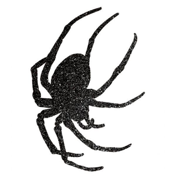 9 Glitzer Spinnen Auschnitte -1376