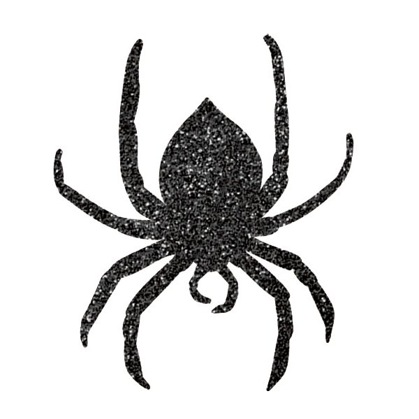 9 Glitzer Spinnen Auschnitte -1378
