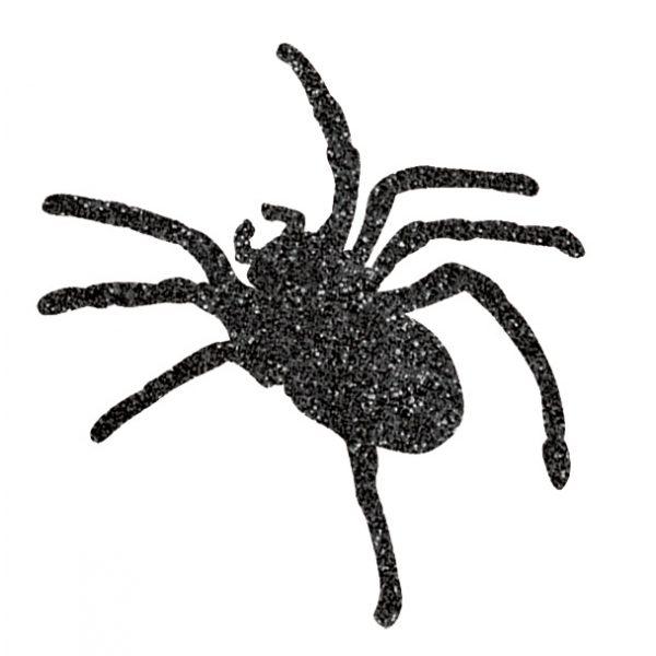 9 Glitzer Spinnen Auschnitte -0