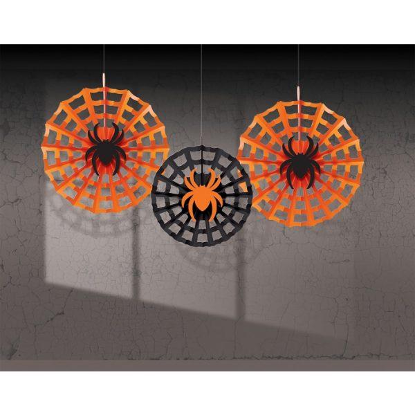 3 Dekofächer Spinnennetz-0