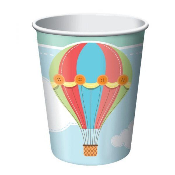 8 Up Up & Away Heissluftballon Pappbecher-0