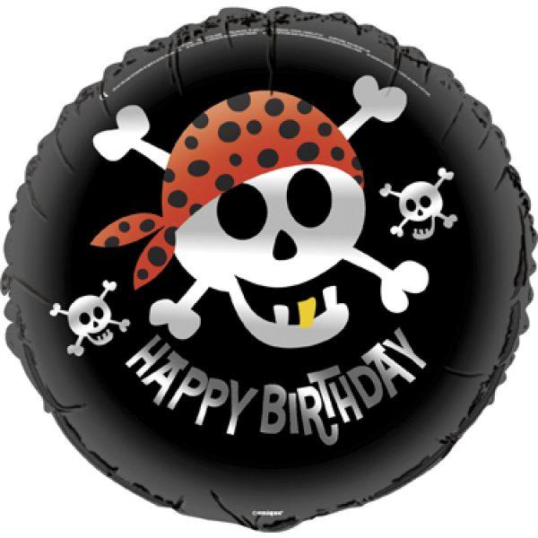 Pirat Ahoi Folienballon 45 cm -0