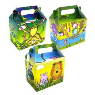 6 Dschungel Safari Mitgebselbox Geschenkschachtel-0
