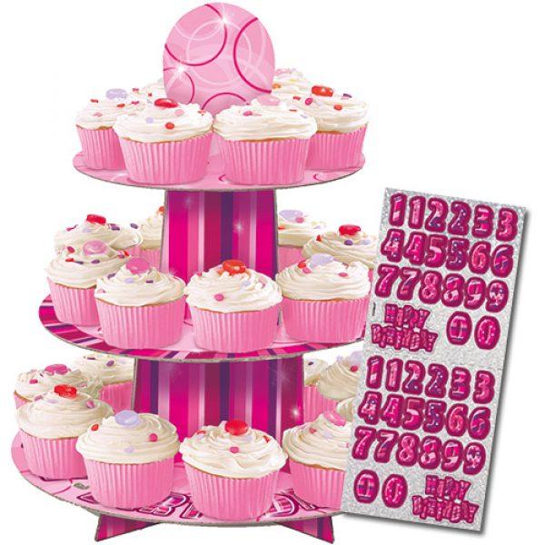 Cupcake Ständer Pink Glitz-0