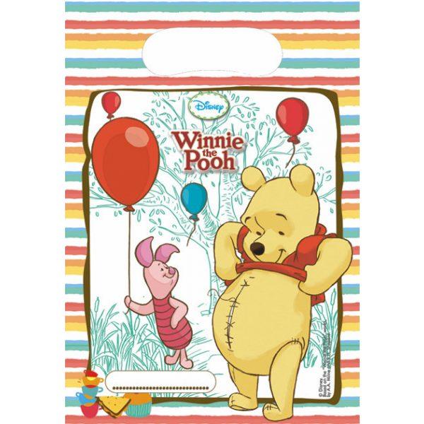 6 Winnie Puuh Partytüten-0