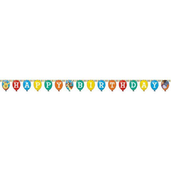 """Winnie Puuh """"Happy Birthday"""" Girlande-973"""