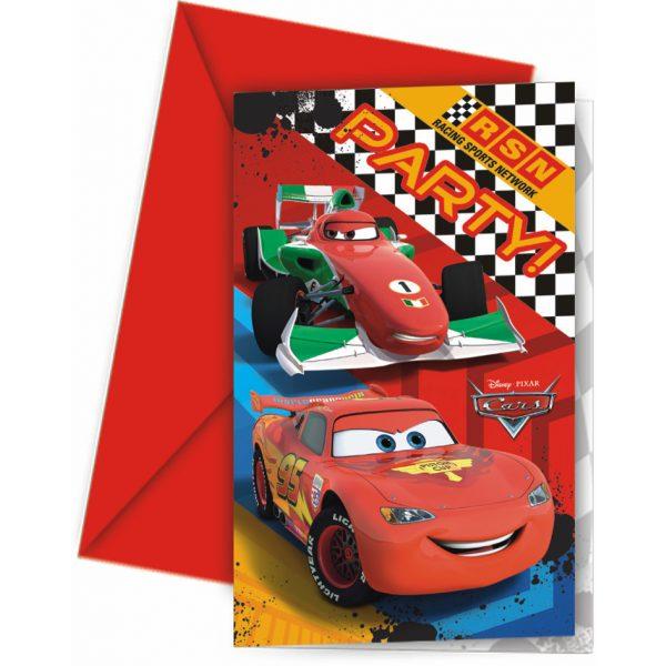 6 Cars Formula Einladungen-0