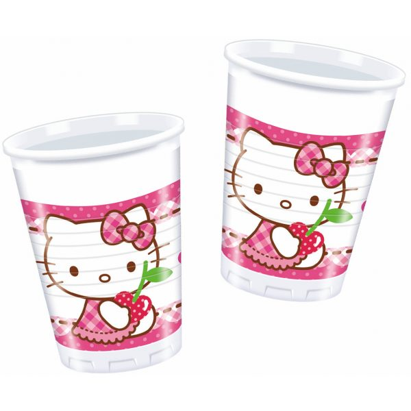 8 Hello Kitty Plastikbecher-0