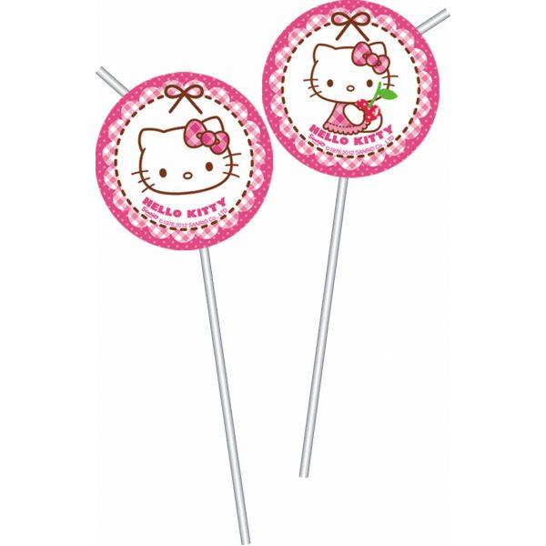 6 Hello Kitty Strohhalme-0