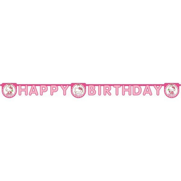 "Hello Kitty ""Happy Birthday"" Girlande-1050"