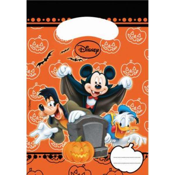 6 Mickey Halloween Partytüten-0