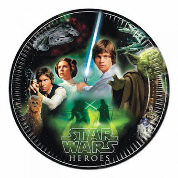 8 Star Wars Pappteller 23 cm-0