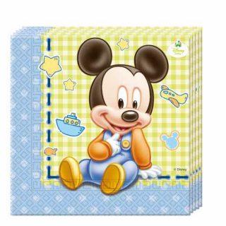 20 Baby Mickey Servietten-0