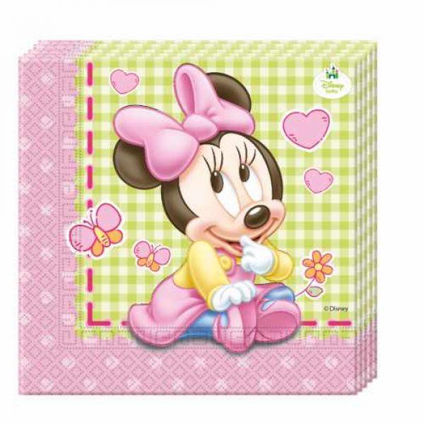 20 Baby Minnie Maus Servietten -0