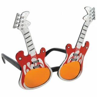 Spaß-Brille Rock Gitarre -0