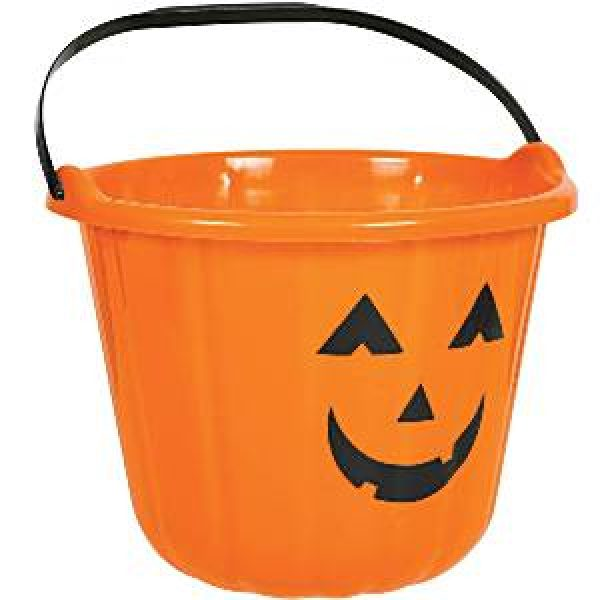 Orange Halloween Kürbiskorb-0