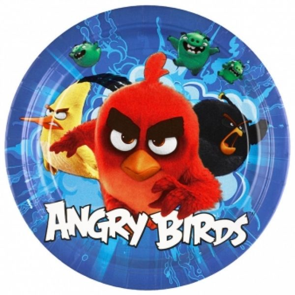 8 Angry Birds Pappteller-0