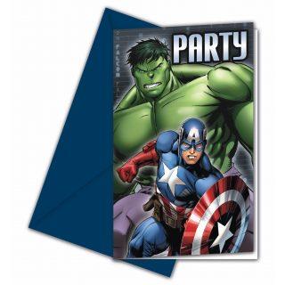 6 Avengers Einladungen-0