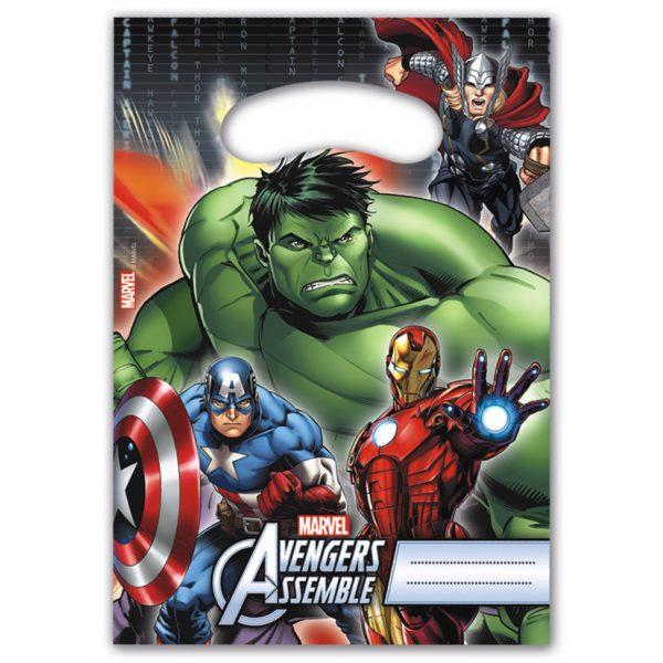 6 Avengers Partytüten-0