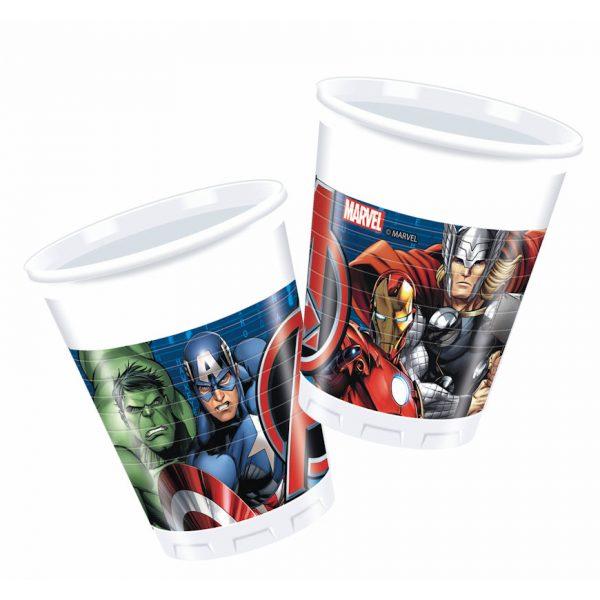 8 Avengers Plastik Becher-0