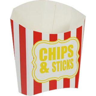 """Naschbox """"chips & sticks"""" rot gestreift-0"""