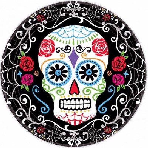 8 Day of the Dead Pappteller -0