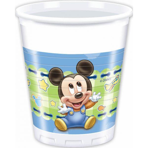 8 Baby Mickey Plastikbecher-0