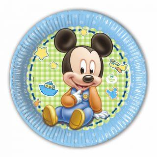 8 Baby Mickey Pappteller 23 cm-0