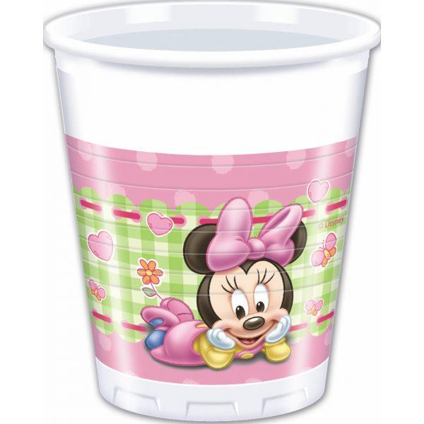 8 Baby Minnie Plastikbecher-0