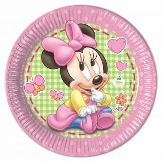 8 Baby Minnie Pappteller 23 cm-0