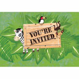 8 Dschungel Safari Einladungen-0