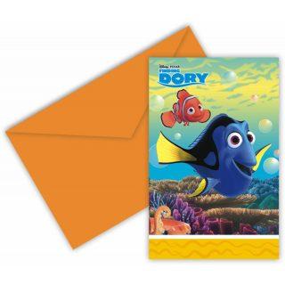 6 Findet Dory Einladungen-0