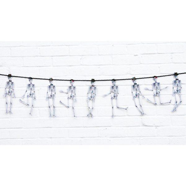 Skelett Girlande mit bewegliche Glieder 3 m-1130