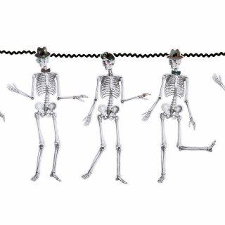 Skelett Girlande mit bewegliche Glieder 3 m-0