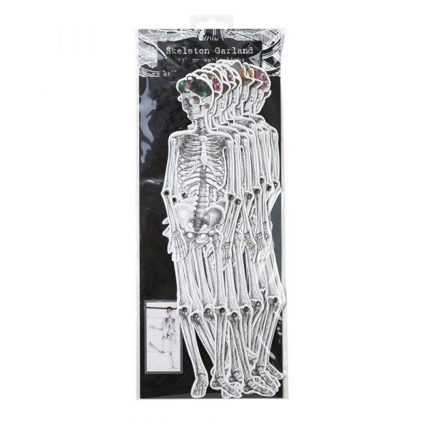 Skelett Girlande mit bewegliche Glieder 3 m-1131