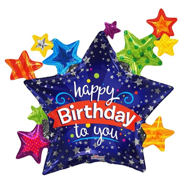 XL Happy Birthday Folienballon 90 cm-0