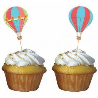 Up Up & Away Heissluftballon Cupcake Picks-0