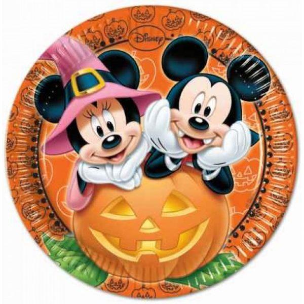 8 Mickey Halloween Pappteller-0