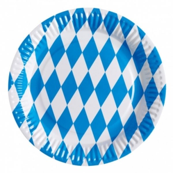 8 Oktoberfest Bayern Pappteller-0