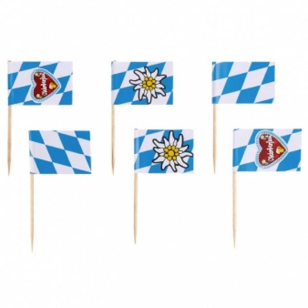 30 Oktoberfest Bayern Deko Flaggen Picks-0