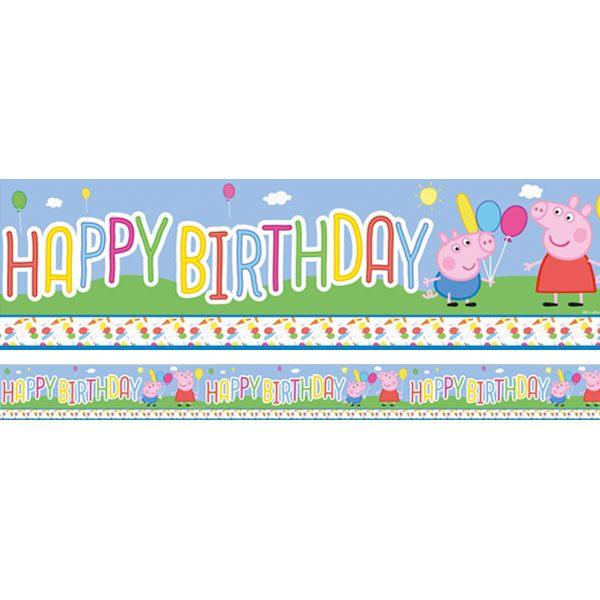Peppa Wutz Happy Birthday Banner 3,65 m.-0