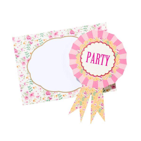 12 Pretty Pony Einladungen -0