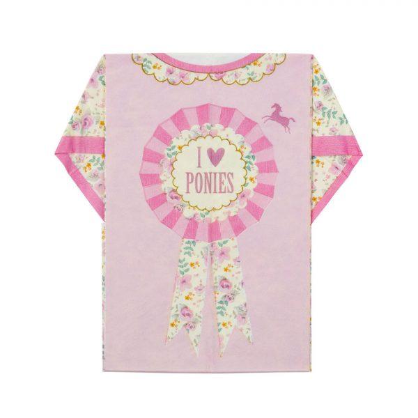 8 Pretty Pony T-Shirt Servietten-1331