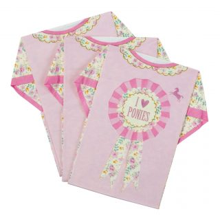 8 Pretty Pony T-Shirt Servietten-0