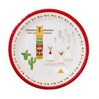 12 Indianer Pow Wow Teller-0