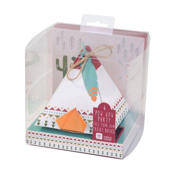 6 Pow Wow Indianer Tipi Geschenkbox-1309