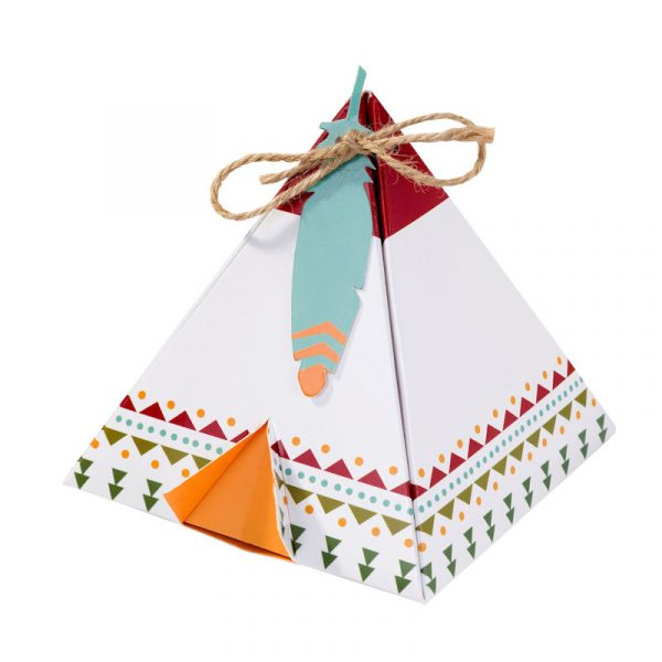6 Pow Wow Indianer Tipi Geschenkbox-0