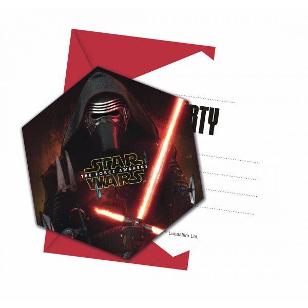 6 Star Wars Einladungen -0