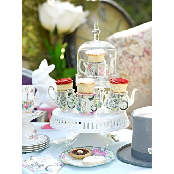 Truly Alice Mini Teekanne Cupcake Ständer-0