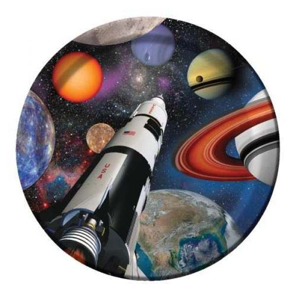 8 Abenteuer im Weltall Pappteller-0